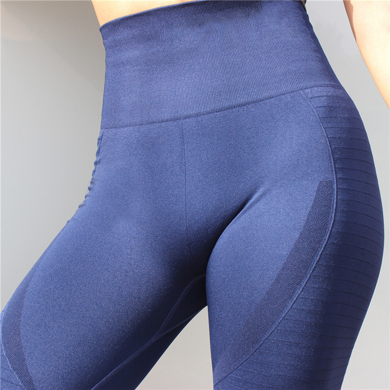 Women Yoga Pants High Elastic Sports Seamless Sport Leggings Tights Sportswear Fitness Compression Solid Slim Running Clothes Лосины