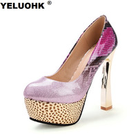 Large Size 44 High Heel Shoes Women Sexy Shoes Pumps Women Wedding Shoes Party For Women Bridal Shoes Thick Heel