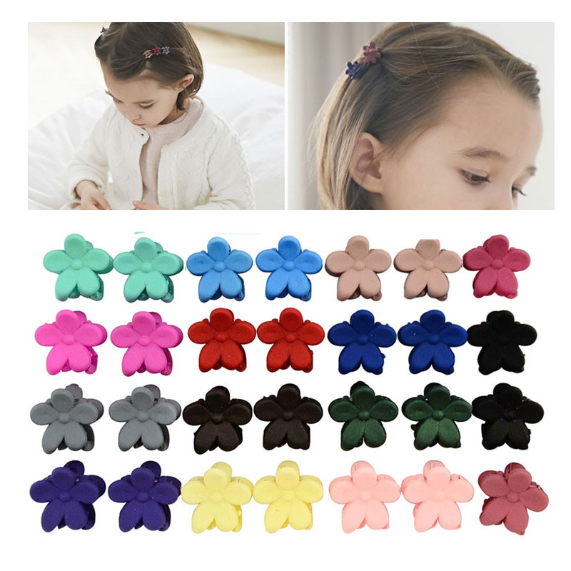 5pcs/lot Kids Claw Random Color Mini Clips Hair Accessories Baby Girls Hairpins Small Flowers Hairclips Hair Claws for Children5pcs/lot Kids Claw Random Color Mini Clips Hair Accessories Baby Girls Hairpins Small Flowers Hairclips Hair Claws for Children