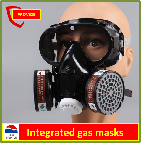 high quality respirator dust gas mask black pesticides paint full face respirator One type protective mask high quality respirator gas mask provide silica gel gray protective mask paint pesticides industrial safety mask