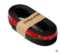 2.5M Silicone car door guard protector red/black car bumper guard door edge guard stripe protector parachoques car styling