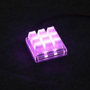 Image 1 - 9 кнопочный QMK Hotswap YMDK RGB с поддержкой функции макросъемки, переключатели типа C MX, механическая клавиатура, цифровая панель для игр, фотошопа