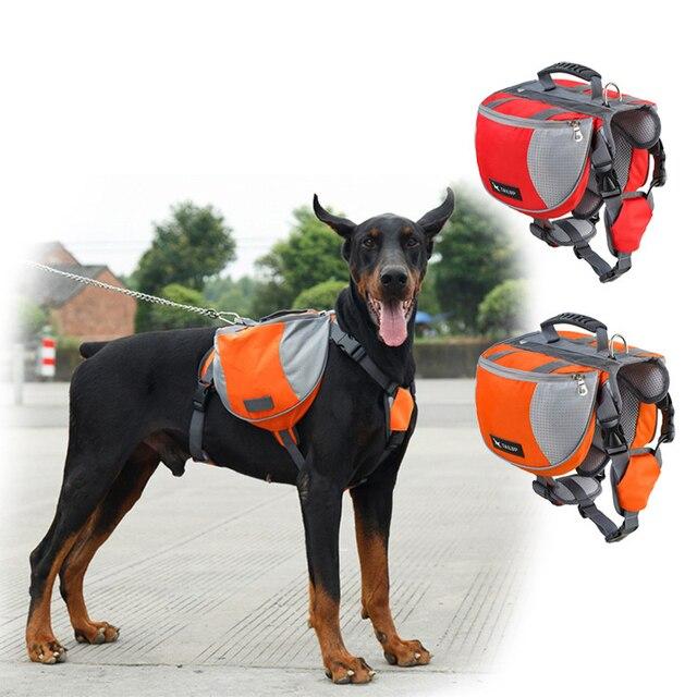 Pet Outdoor Backpack Large Dog Harness Carrier Bag Adjustable Dog  Packsaddle Piggyback Storage Bag For Traveling