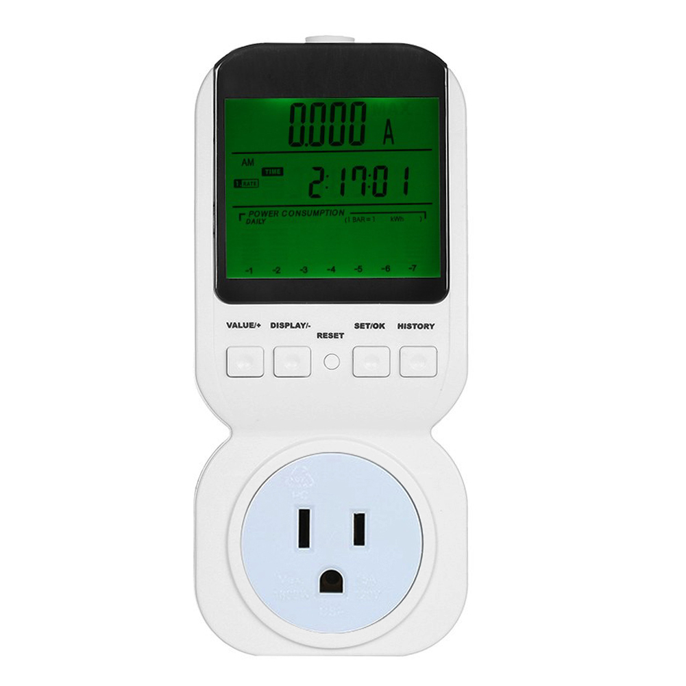 US Digital Energy Meter Plug Power Meter Power Energy Voltage Amps Watt Meter Monitor Electricity Socket Analyzer ada instruments 6d maxliner