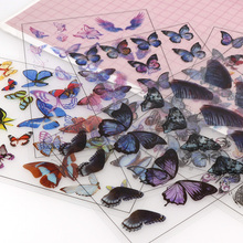 1pcs Butterfly UV Resin Fillings Sticker Journal Material Decorative DIY Filling Planner Diary Scrapbooking Album Stickers kaylee berry lifestyle blog planner journal lifestyle blogging content planner never run out of things to blog about again