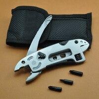 Adjustable Wrench Jaw Screwdriver Pliers Multi Tool Set Survival Gear Sheath