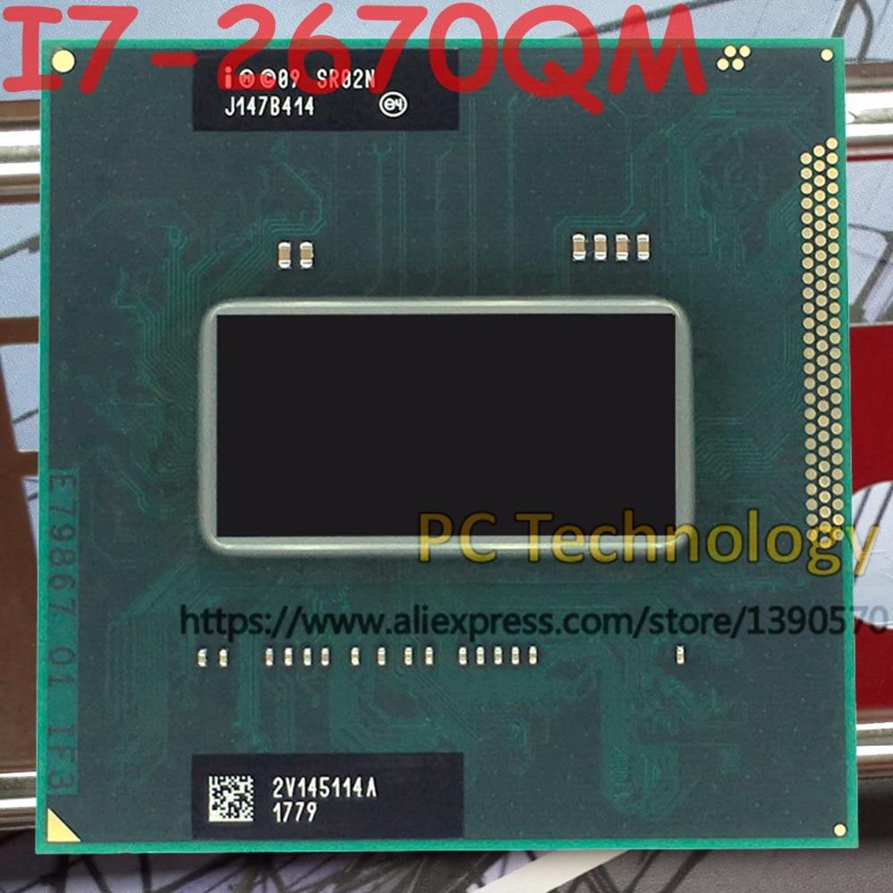 Оригинальный процессор Intel Core I7-2670QM SR02N I7 2670QM процессор 2,2 ГГц-3,1 ГГц L3 = 6M четырехъядерный Бесплатная доставка Поддержка HM65/HM67