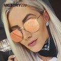 2017 Новых мужчин Мужчин Солнцезащитные Очки Зеркало Леди Модный Бренд Дизайнер шестиугольник Солнцезащитные Очки Леди UV400 Женский Малый Размер