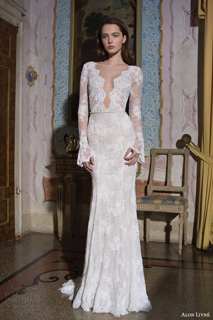 2015 galia lahav wedding dresses mermaid deep v neck long sleeves 2015 galia lahav wedding dresses mermaid deep v neck long sleeves custom made backless vintage wedding junglespirit Images