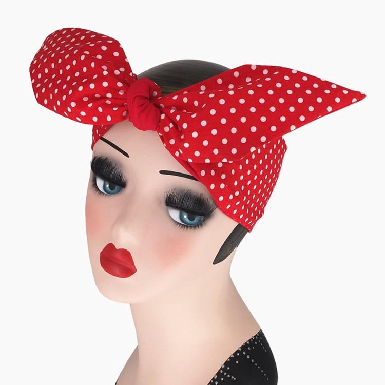 Damen Haarschmuck Haarband Pin up Stirnband Rot Bogen NEU Kostenloser Versand