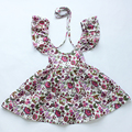 Beautiful Flower girl dress new style  Baby girl Dresses Girls Infant Cotton Sleeveless Dress Summer baby dress