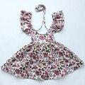 Hermosa niña de las Flores vestido nuevo estilo Vestidos de niña de Bebé Niñas Bebés de Algodón Sin Mangas del bebé vestido de Verano