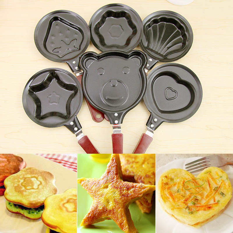 Cute Shaped Nonstick Kitchen Accessoories Breakfast Egg Frying Pans Egg Mould Pans Mini 1 PC Cooking Tools