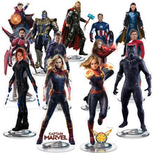 21CM Marvel Avengers 4 Action Figure Collection Decoration Endgame Acrylic Display Board Gift Captain Iron Man