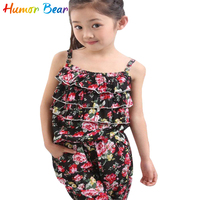 2014 NEW ARRIVAL Children Summer Clothing Sets Girl Spaghetti Strap Top Twinset Casual Pants For 2