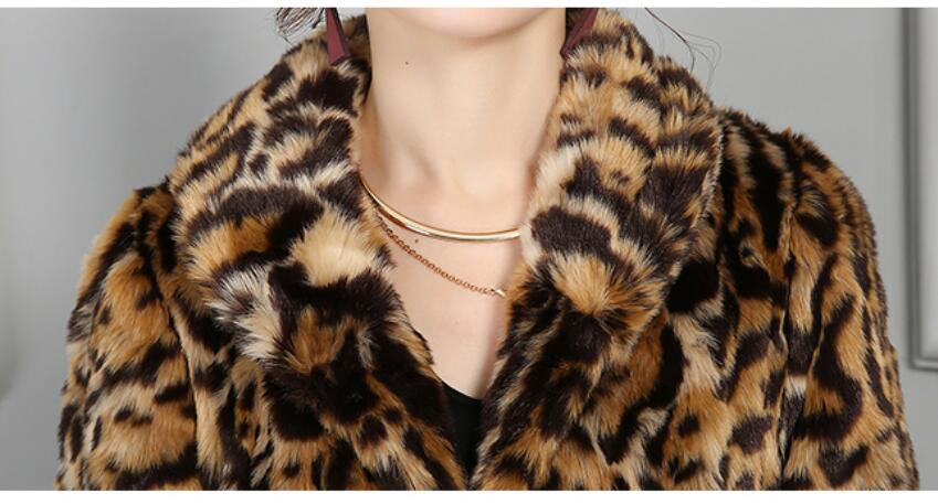 Pq155 Léopard 2017 Fausse Imprimé Chaud Leopard De Épais Veste Taille Parkas Fourrure Grande Print Manteau Weman Nouvelle Mode Long Hiver En Femelle 8qwrOH8