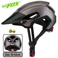 Casco de bicicleta BATFOX bat fox mtb casco de ciclismo integrado moldeado para mujer casco de bicicleta para hombre bicicleta de carretera mtb casco ciclismo bicicleta