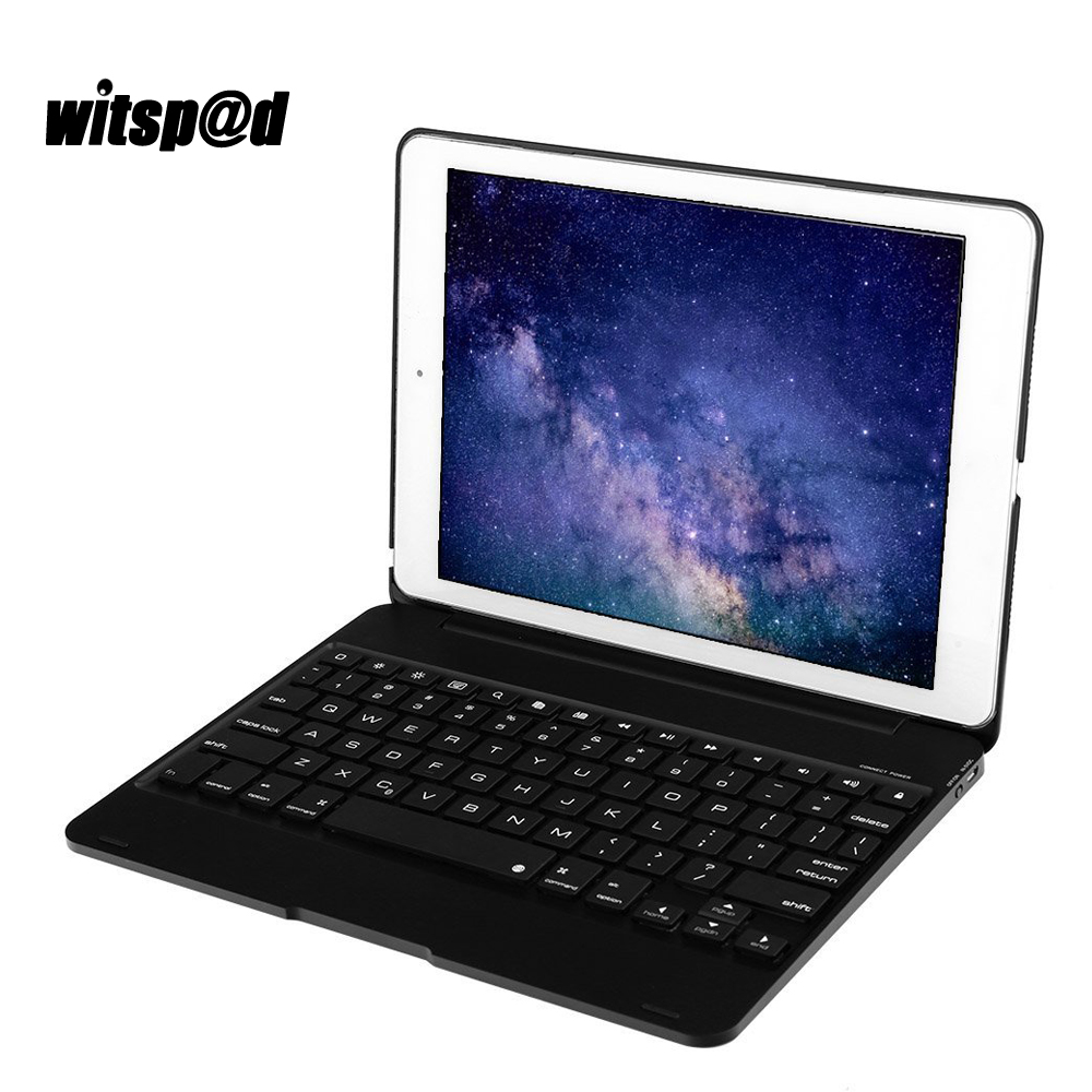 Witsp@d USB Backlit Bluetooth Wireless Keyboard For iPad Pro 9.7 inch Tablet PC cover case for iPad Air Case for Christmas gifts цена