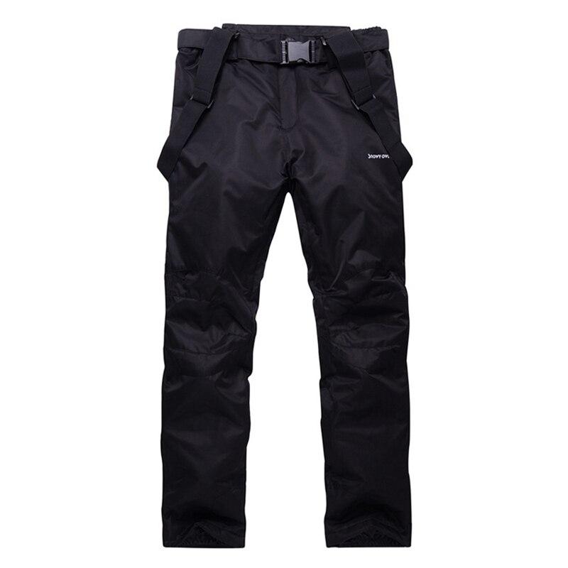 Hommes pantalons de Ski marques nouveaux Sports de plein air de haute qualité bretelles pantalons hommes coupe-vent imperméable chaud hiver neige Snowboard