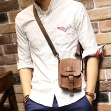 Retro Crazy Horse PU Leather Mens Waist Bag