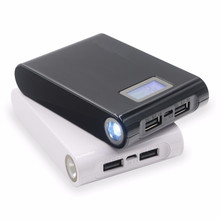 free transport actual capability twin usb led torch energy financial institution 10400mah unique for xiaomi and pill