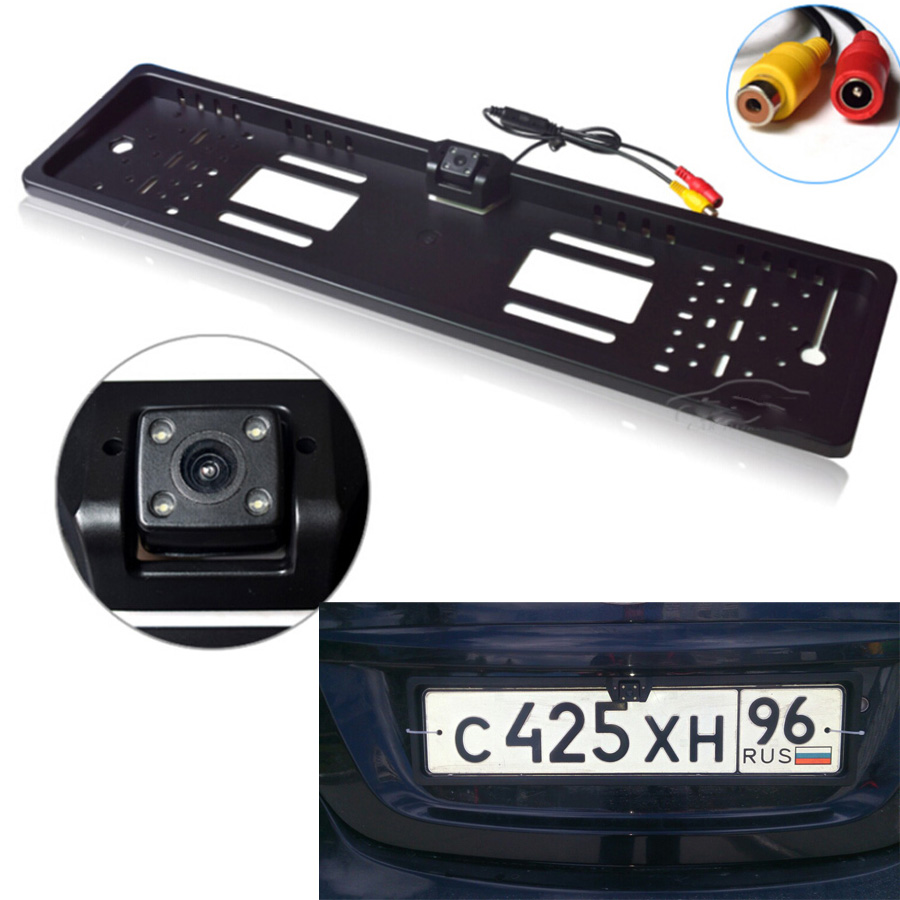 Waterproof European License <font><b>Plate</b></font> Frame Rear View Camera Auto <font><b>Car</b></font> Reverse Backup Parking Rearview Camera Night Vision 170 degree