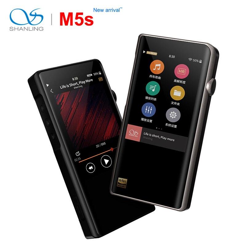 Shanling M5s Bluetooth Portable Salut-Res Musique Lecteur MP3 2 * AK4493EQ 2.5mm sortie symétrique soutien TAAC/ qualcomm aptX/AAC WiFi