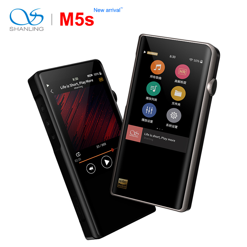 Shanling M5s Bluetooth Portatile Hi-Res del Giocatore di Musica di MP3 2 * AK4493EQ 2.5 millimetri uscita bilanciata supporto LDAC/ qualcomm aptX/AAC WiFi