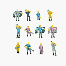 Teraysun  Wholesale 1:50 Model railway worker miniature ABS plastic figure for architecture model train layout 50pcs lot architecture mini plastic model 2 15cm color tree for ho train layout railway layout model building