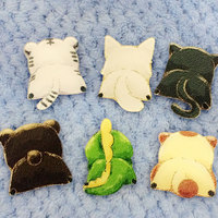 1 PC Kawaii Animal Shaped Badge Harajuku Acrylic Pin Badges Cartoon Backpack Badge