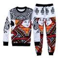 2015 New Harajuku Poker print 3D sweatsuit fashion tracksuit Men Women casual pants+hoodies 2 pieces men track suits