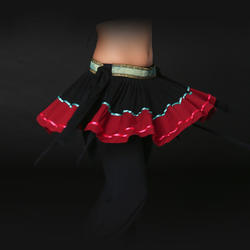 Новые поступления Этнические Племенные Костюмы для танца живота Национальный короткая юбка сбоку Разделение Цыганский Танец хлопок хип