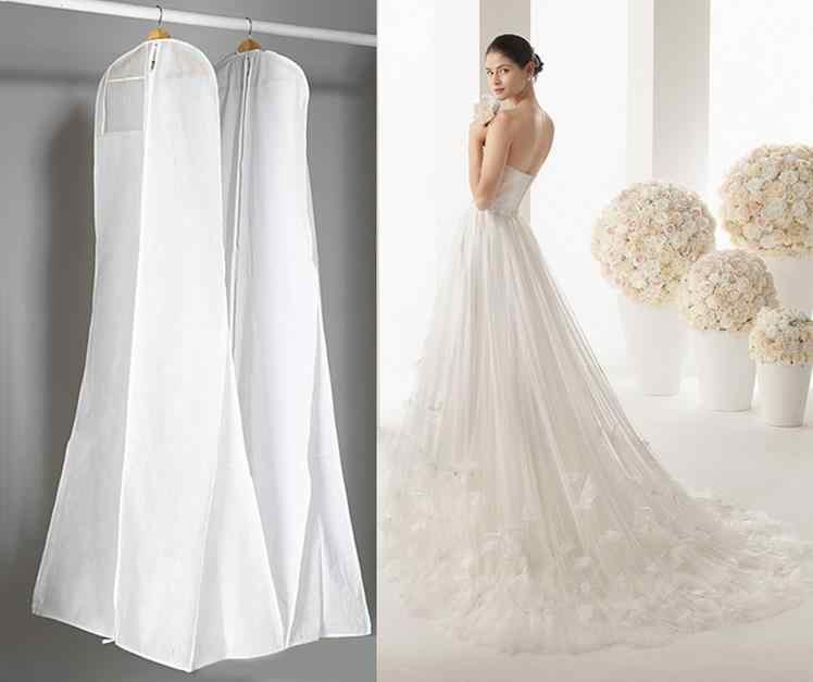 Очень большой 180 см свадебное платье чехол для одежды сумка для хранения одежды нетканый годе со шлейфом Свадебное Платье пылезащитный чехол