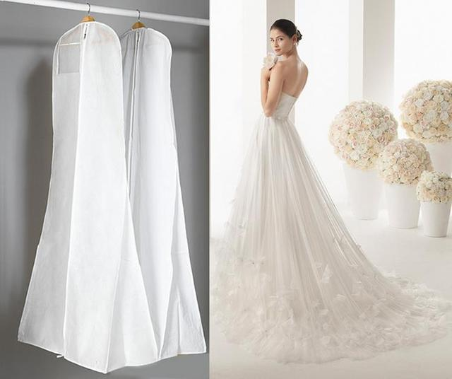 Extra Large 180cm Bridal Gown Clothes Cover Garment Storage Bag Non Woven Fishtail Trailing Wedding