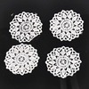 30pcs/lot Round Flower Lace Applique Mesh Trim For Garment Accessories Decoration Sew On Guipure Lace Fabric CP1139