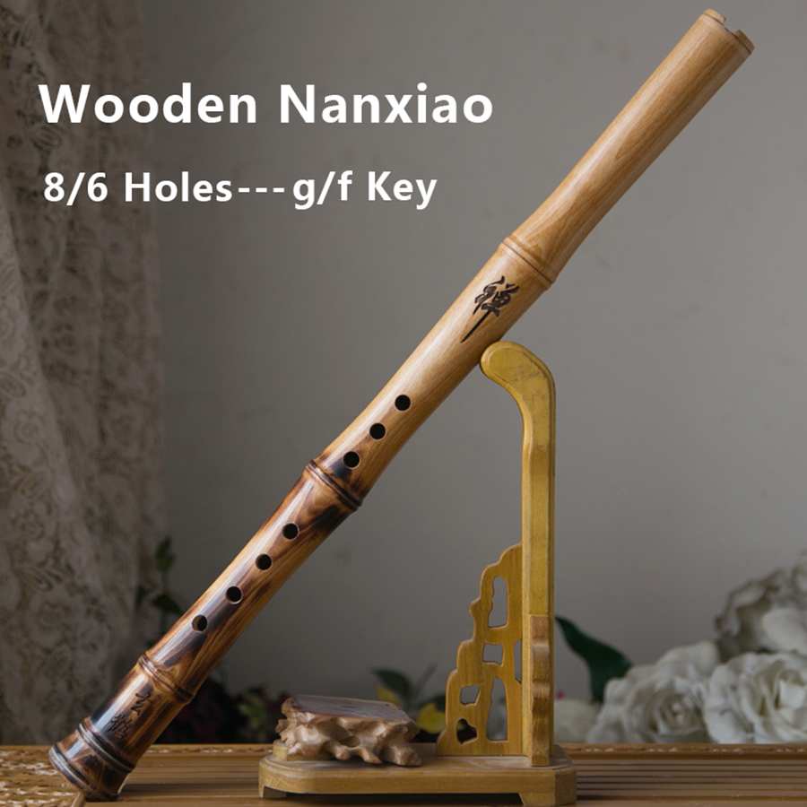 Traditional Chinese Flute Nan Xiao Wooden Southern Flauta Woodwind Musical Instruments 6/8 Holes G/F Key Short Wood Xiao