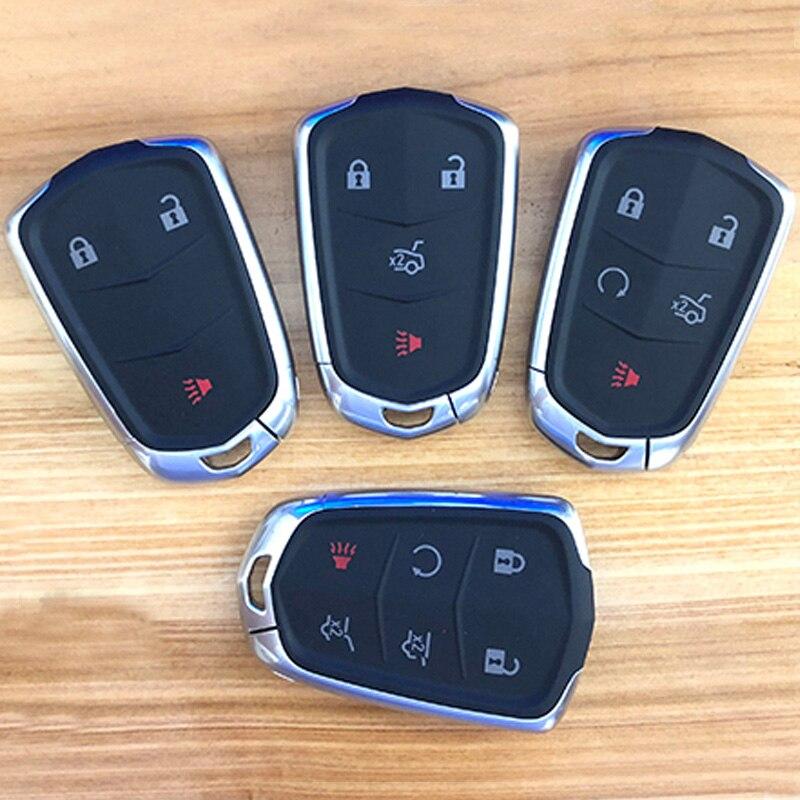 5 6 buttons carbon fiber Key Fob Case cover for Cadillac CT6 XT5 CTS XTS SRX ATS