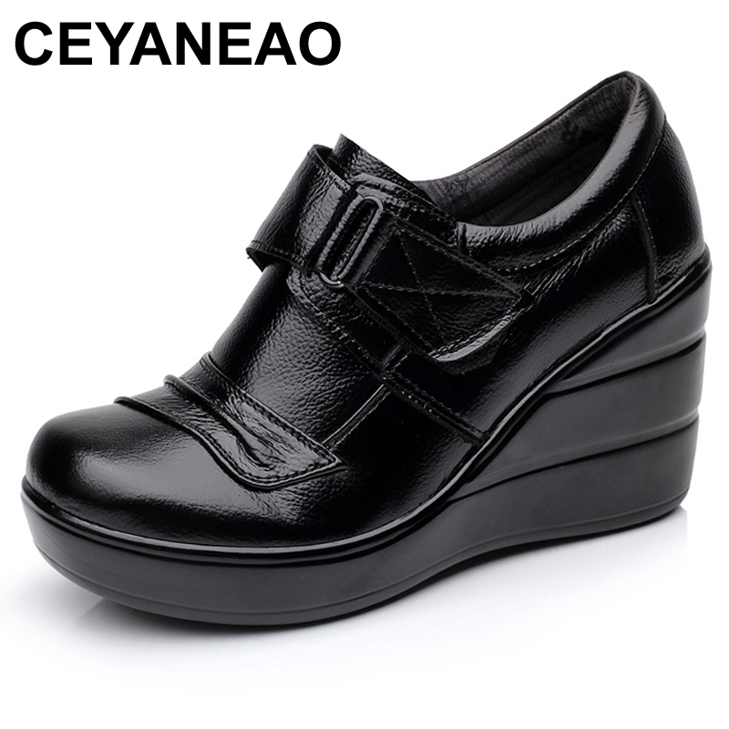 CEYANEAOCowhide genuine leather platform spring and autumn deep mouth single shoes high heels platform womens shoes wedgesE1956CEYANEAOCowhide genuine leather platform spring and autumn deep mouth single shoes high heels platform womens shoes wedgesE1956