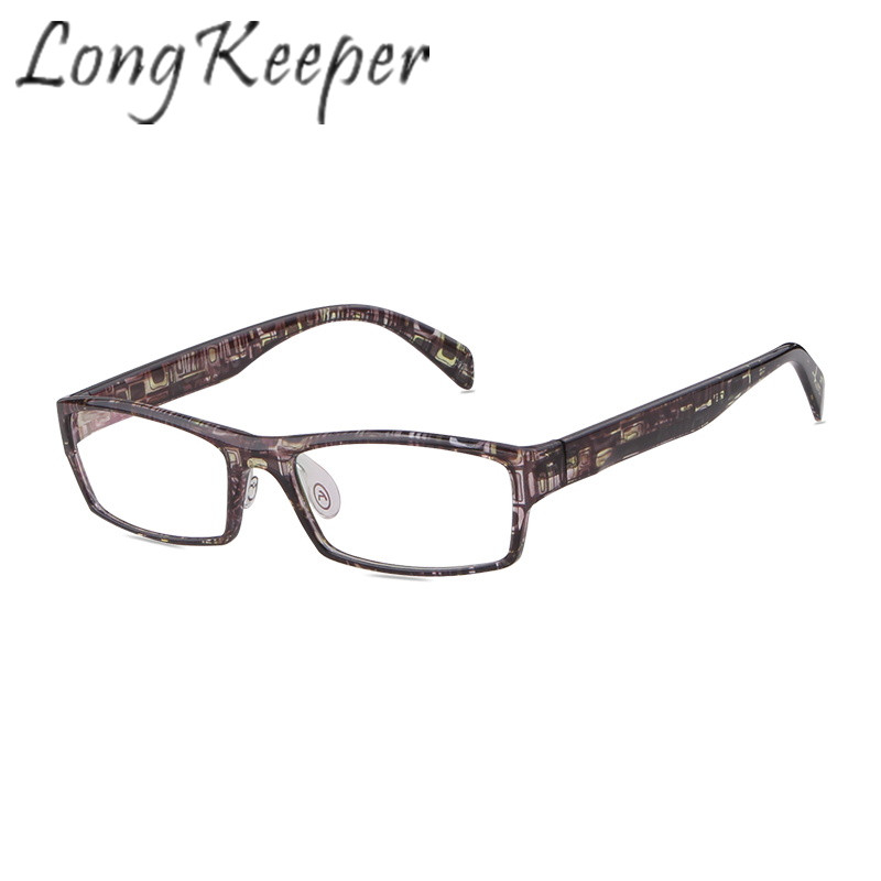 Long Keeper Eyewear Eyeglasses Frame Women Men Square Eye Glasses Spectacles Optical Lens Clear Lens Goggles Fashion Reading New
