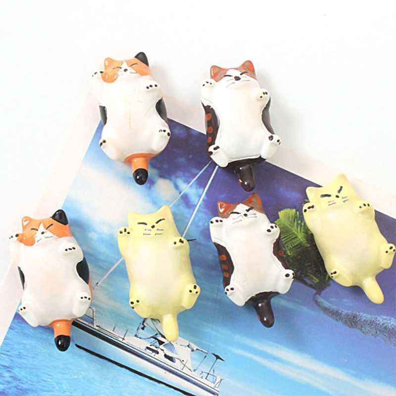 Милый японский стиль Кошки мультфильм Дети образования сувенирные магниты для холодильника магнитная доска наклейки