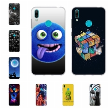 For Huawei Y7 2019 Case Slim Soft TPU Silicone Prime Pro Cover Scenery Pattern Enjoy 9 Bag
