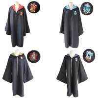 35117bfd49d5 Фигурку Дети Харри Поттер Плащ Гриффиндор Ravenclaw Слизерин Хаффлпафф  Волшебная школа костюмы для косплея плащ модель