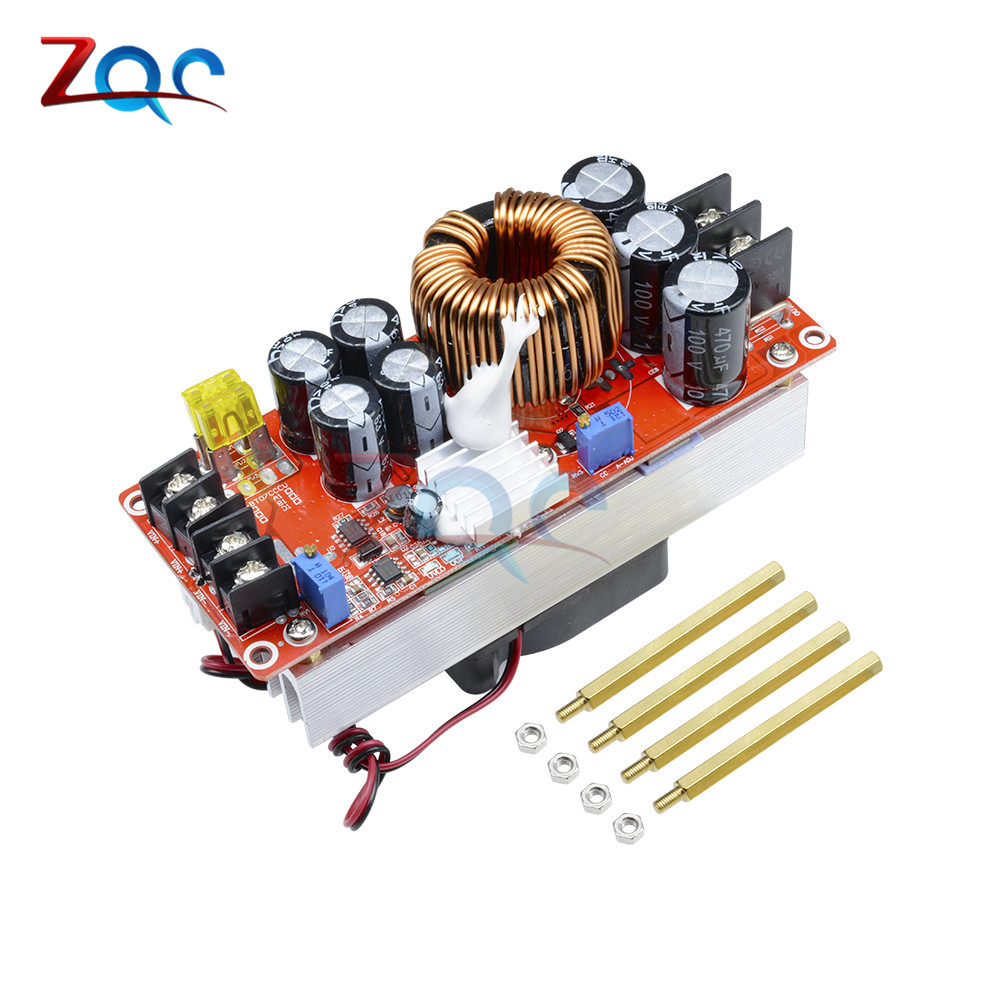 1500W 30A DC DC Step Up Boost Converter 10 60V to 12 90V Current Power Supply Module With Fan