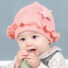 2018 Baby Hat Winter Cotton Star Caps bonnet infant Toddler Boys Girls Knitted Cap Protect The Ears Hats Warm Kids Beanie