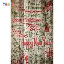 Yeele Christmas Photocall Graffiti Grunge Wood Ball Photography Backdrops Personalized Photographic Backgrounds For Photo Studio