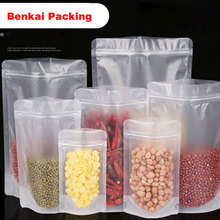 New 50pcs/Lot Frosted Self-Supporting Ziplock Bags Plastic Zipper Bag  Matte Transparent Packaging Sealed Food