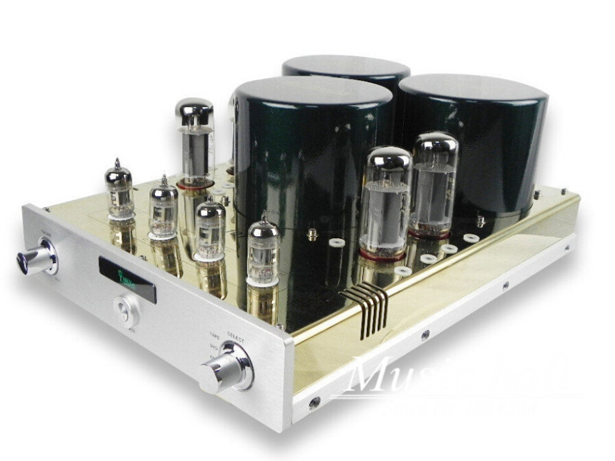 YAQIN MC-10T EL34 x 4 Class A Valve Tube Integrated Amplifier ultra-linear push-pull tube AMP 110V/240V hot sell psvane el34 tube amplifier class a power amp high end brushed metal panel hifi amplifier 110v 220v