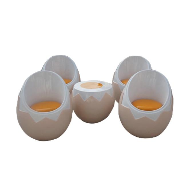 Good Egg Chair / Egg Chair / Stool Eggshell Egg Yolk / Fiberglass Furniture /  Yolk Coffee