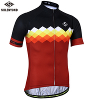SIILENYOND Gannon Quick Dry Cycling Jersey Summer Short Sleeve MTB Bike Clothing Ropa Maillot Ciclismo Racing