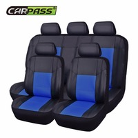 Car Pass Pu Leather Universal Auto Car Seat Covers 9 Color Seat Cover Car Interior For
